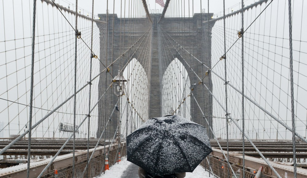 Parts Of NYC See First Snow Flurries Of December This Morning
