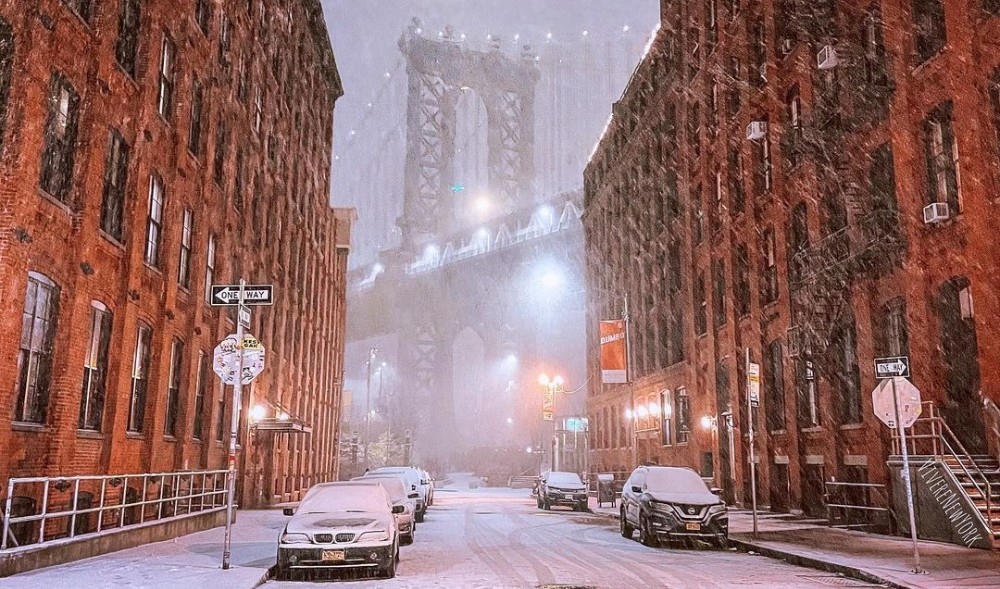Photos: Winter Nor'easter Blasts NYC With Up To 10 Inches Of Snow