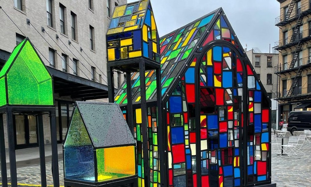 These Beautiful Rainbow Stained Glass Houses Have Popped Up In Meatpacking