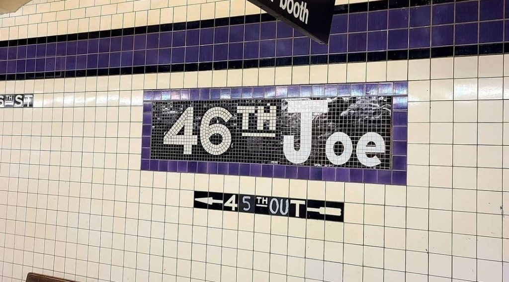 New Yorker Changes 46th St. Subway Station Sign For Inauguration Day