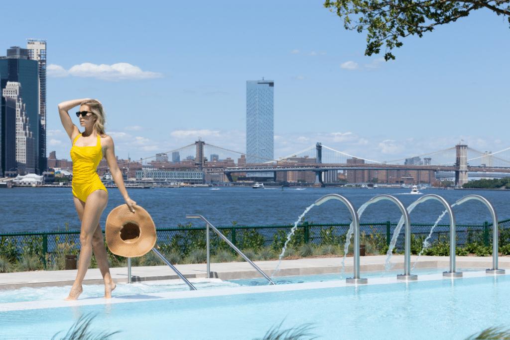 Pools At This Lavish New Wellness Spa Offer Stunning 360 Views Of NYC • QC NY