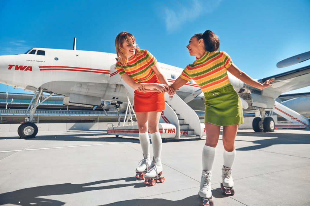 Skate Alongside A 1950s Airplane On New Retro Roller Rink At JFK Airport