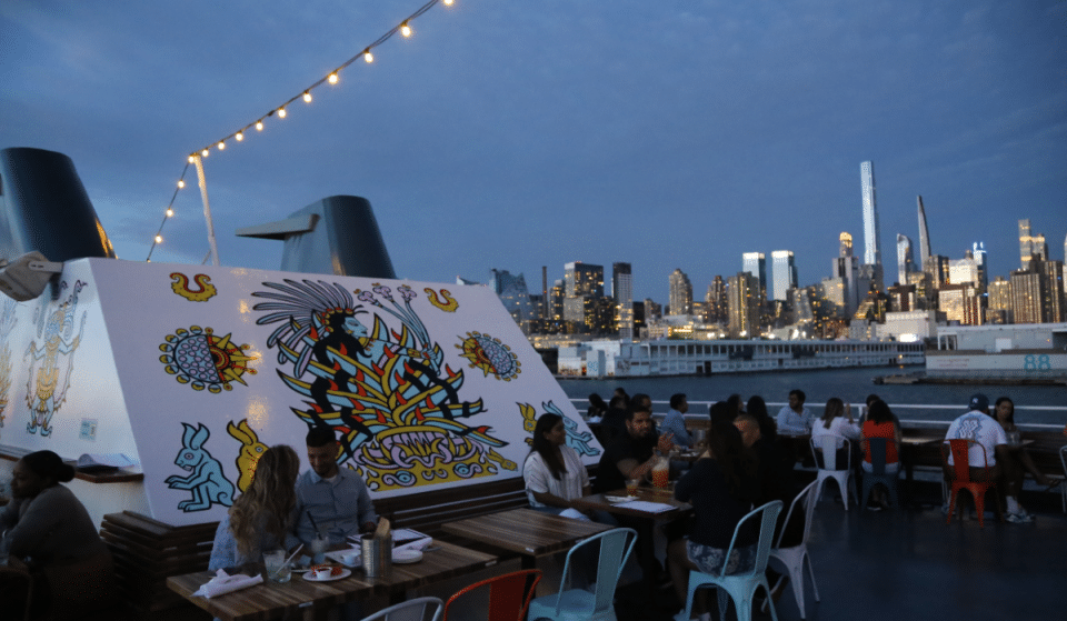 NYC's First & Only Floating Mexican Restaurant Is Now Hosting Nighttime Fiesta Cruises