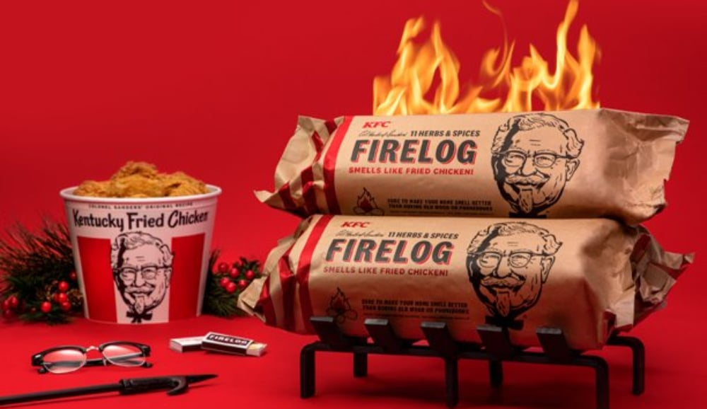 Canadian Tire Is Now Selling Firelogs That Smell Like KFC Fried Chicken When Burned