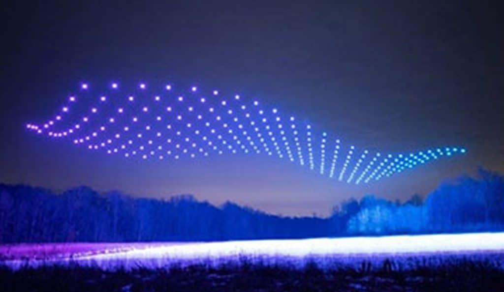 Mesmerizing Drone Light Shows Illuminate The Sky Over Kitchener This Holiday Season