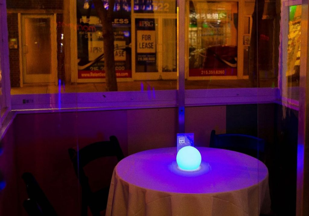 This Center City Restaurant Has Set Up Whimsical Neon Chalets For Outdoor Dining
