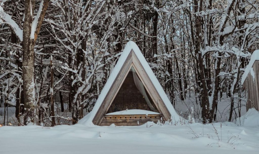 This Cozy Cabin Will Make You Feel Like You've Been Whisked Away To A Scandinavian Wonderland