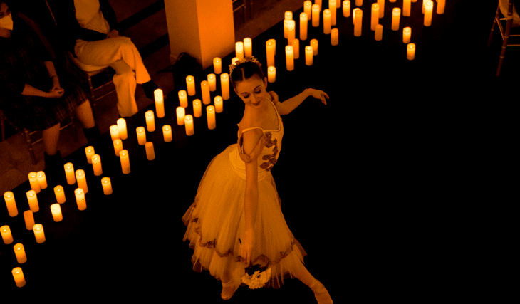 Experience A Magical Candlelight Concert With Ballerinas Dancing to Tchaikovsky