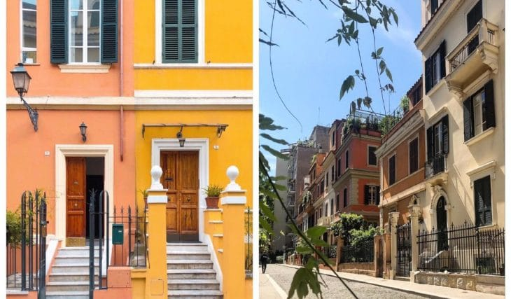 La pittoresca Piccola Londra nel quartiere Flaminio a Roma