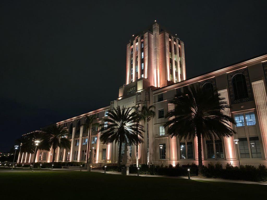 San Diego Buildings Lit Up Last Night In Nationwide COVID-19 Memorial