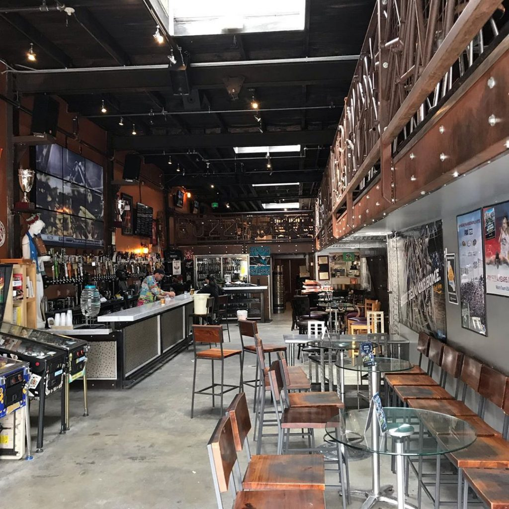 Two-story sports bar
