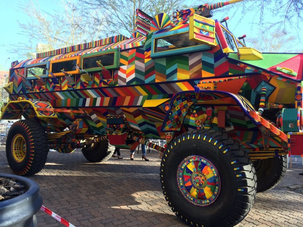 casspir project colorful armoured truck fort mason