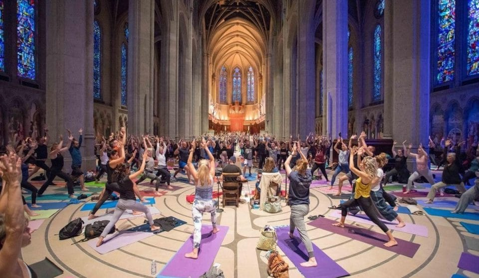 Grace Cathedral's Captivating Yoga Series Is Back On Tuesday Evenings