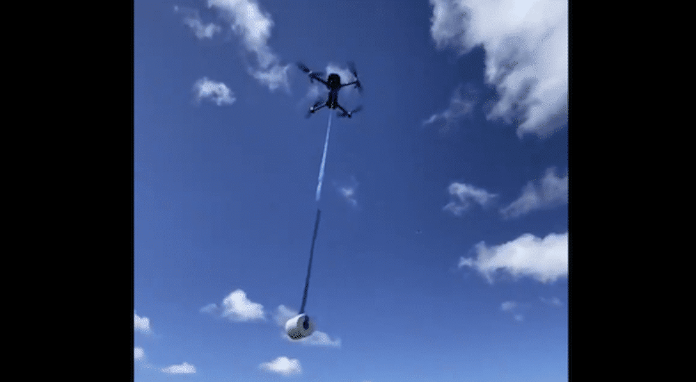 Man Delivers Toilet Paper To His Friend's House Via Drone During Quarantine