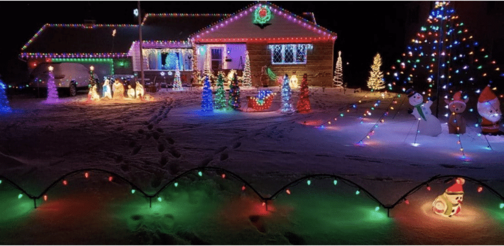 coronavirus christmas lights