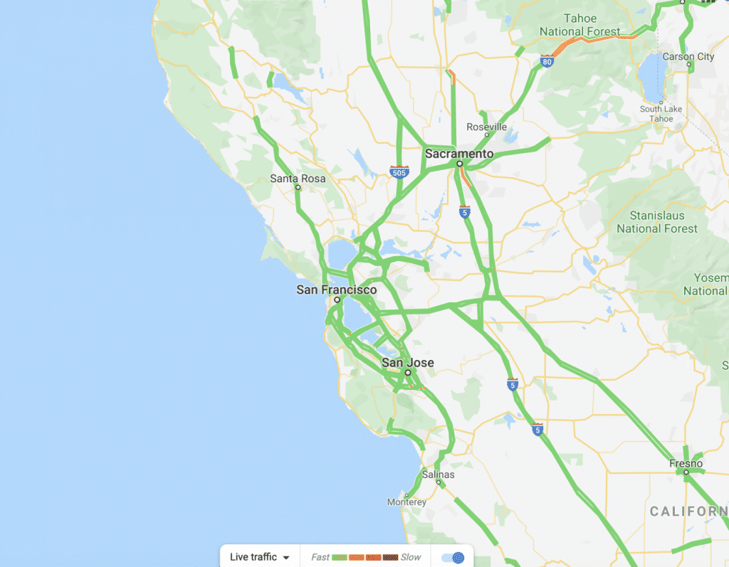 bay area green traffic map st. patrick's Day