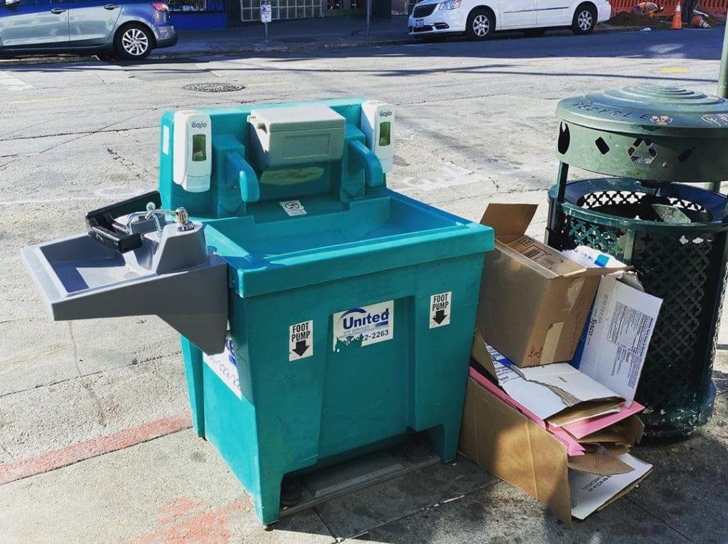 free public hand-washing stations