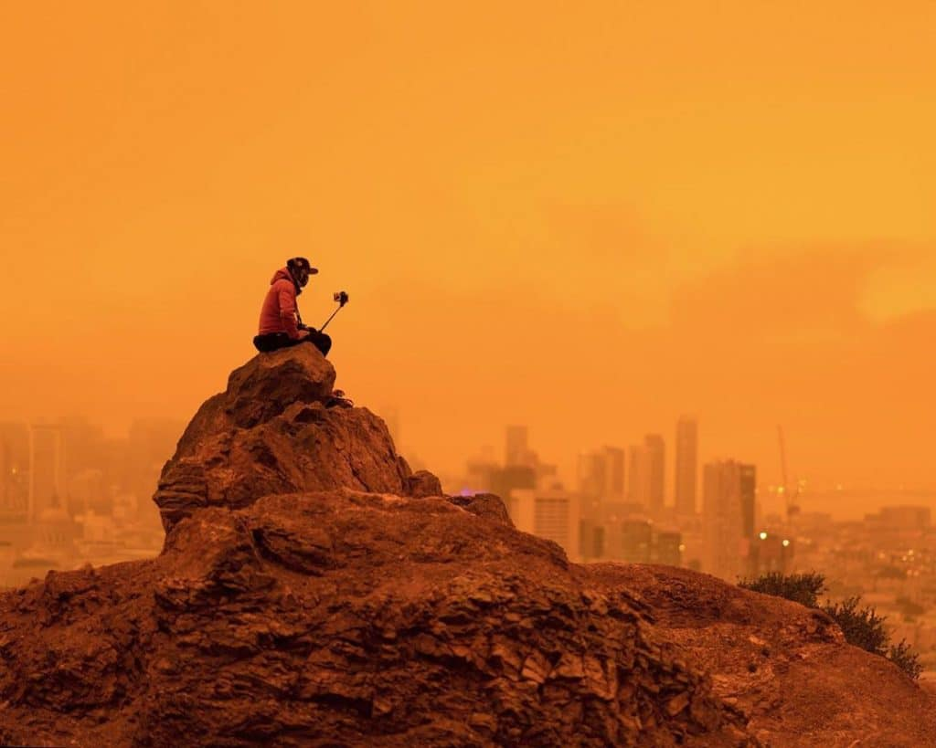 PHOTOS: The Fires Are Making Cali's Skies Glow Red, & It Feels Like Night All Day
