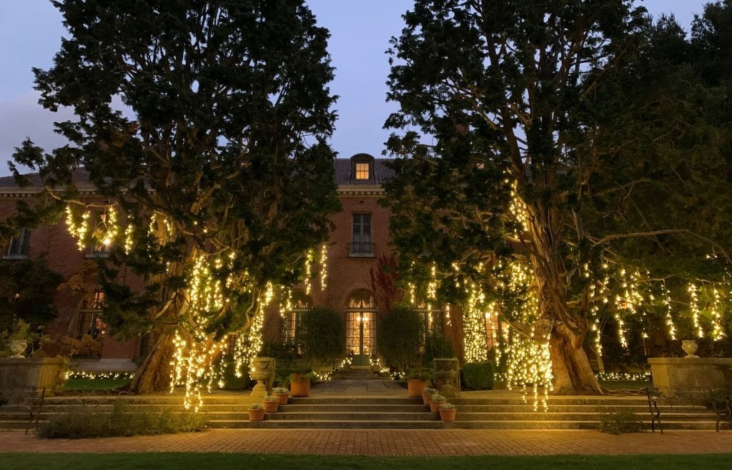 Stroll Through Enchanting Winter Gardens Filled With Twinkling Lights At This Grand Woodside Estate
