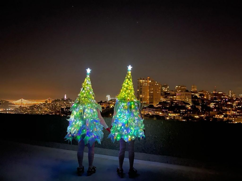 The Tree Twins Are Serving San Francisco Exactly The Brand Of Holiday Cheer We Need To Finish Out 2020