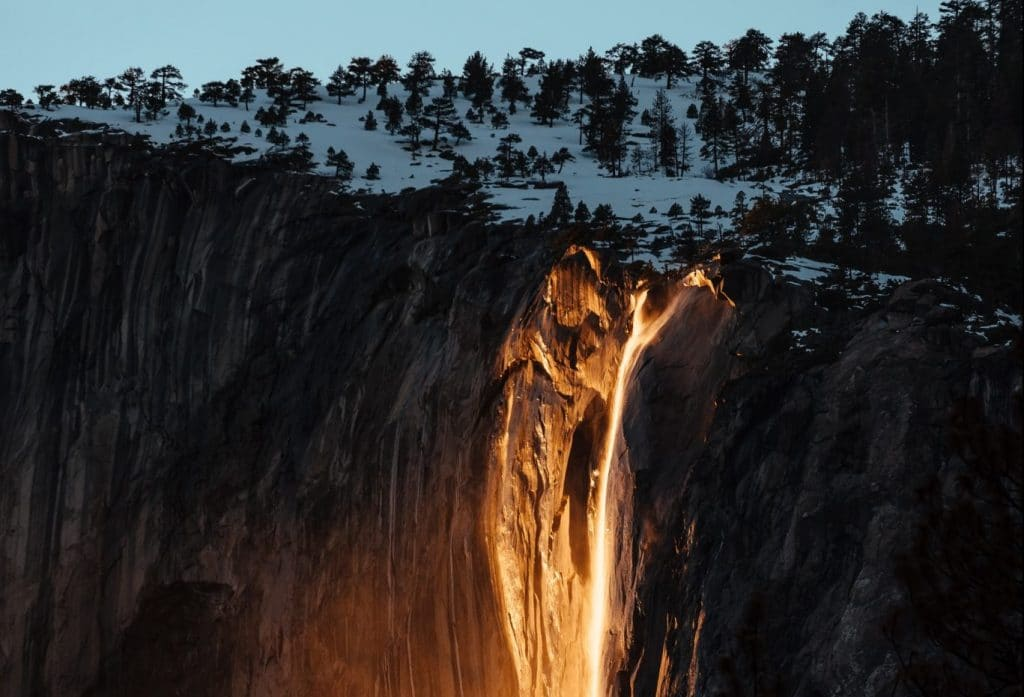 This Rare Glowing 'Firefall' Is About To Happen In Yosemite National Park