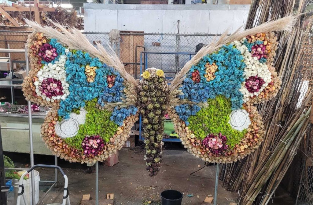 Look For These 13 Enormous Floral Butterfly Sculptures Honoring Small Business Week