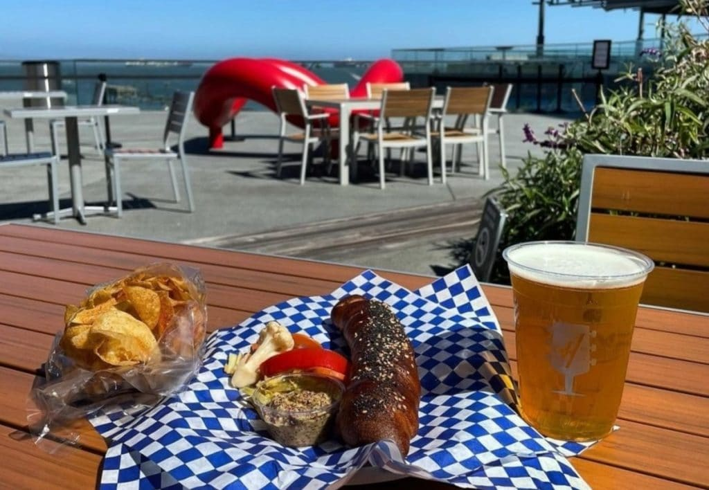 Enjoy Bay Views With A Beer At Harmonic Brewing's Giant New Patio