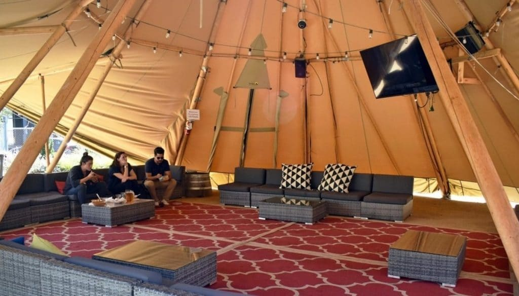 You Can Rent A Tipi At This Massive Food Truck Park And Mini Golf Course In Mission Bay