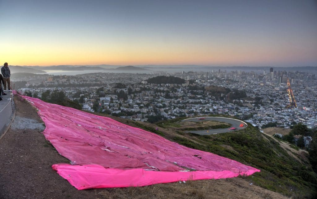 26th Annual Pink Triangle Installed On Twin Peaks To Kick Off Pride Month