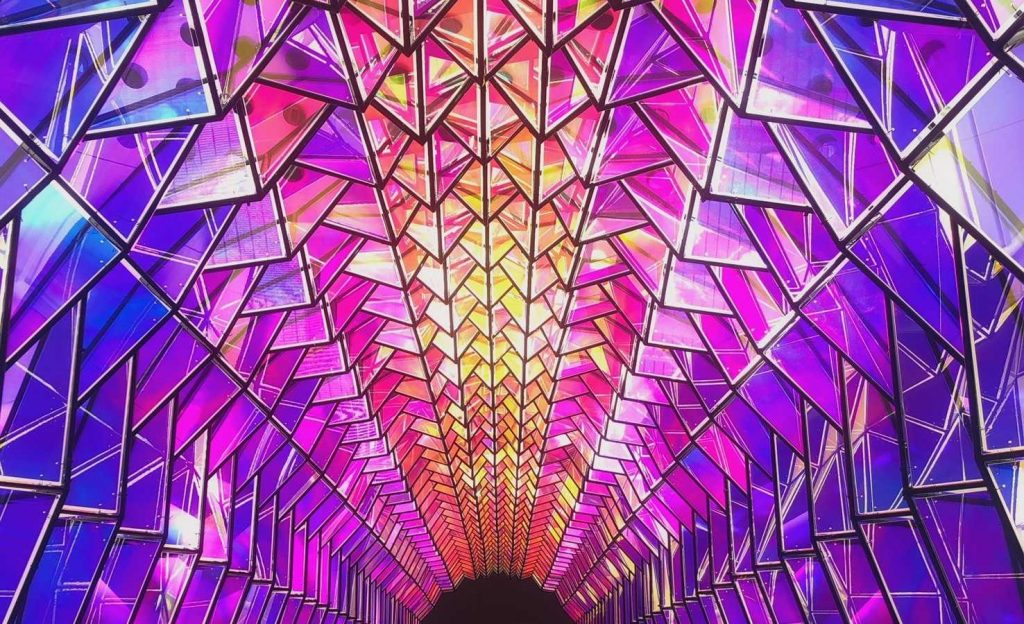 This Colorful Tunnel At SFMOMA Is Like Stepping Into A Kaleidoscope
