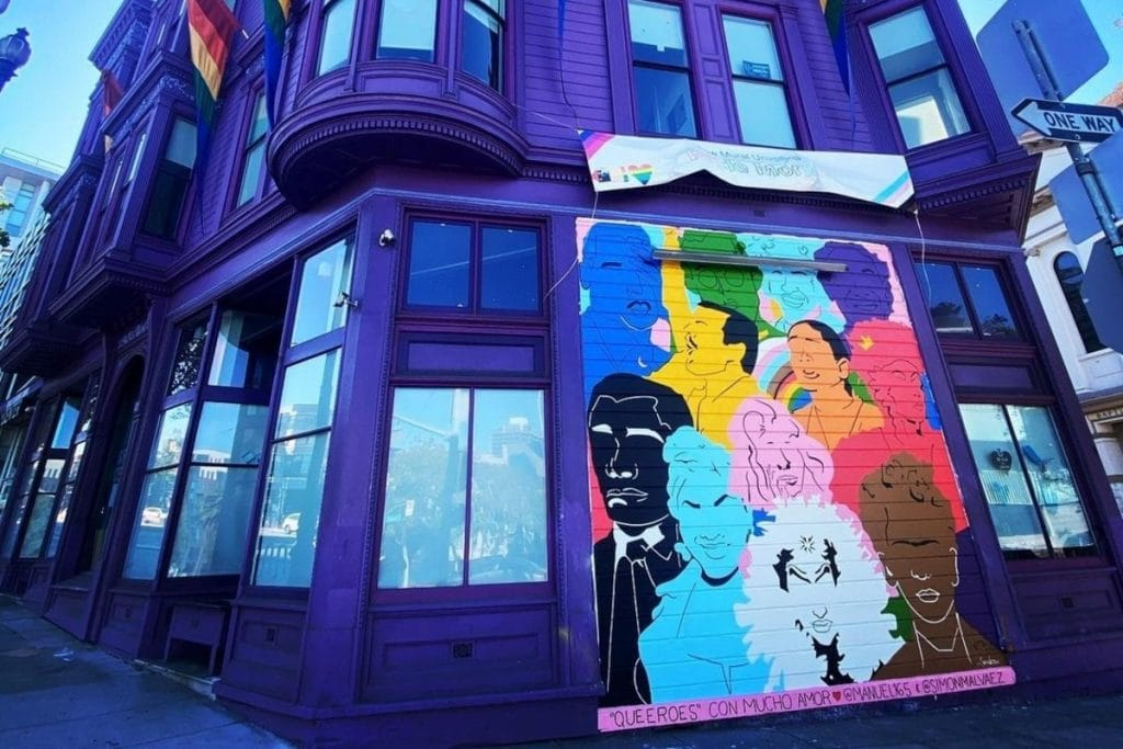 """A Who's Who Of All The """"Queeroes"""" In SF LGBT Center's New Mural"""