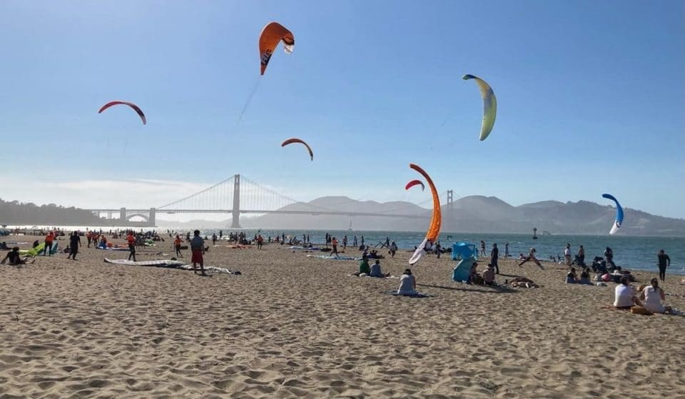 You Can See Awesome Kite Surfing Races At Crissy Field Beach Every Other Thursday