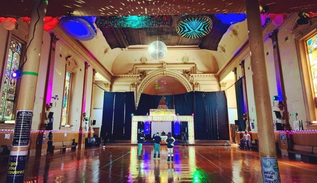 Skate The Night Away At This Groovy 19th-Century Church Turned Roller Rink