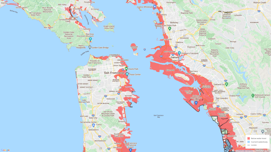 Here's What San Francisco Would Look Like After Sea Level Rise