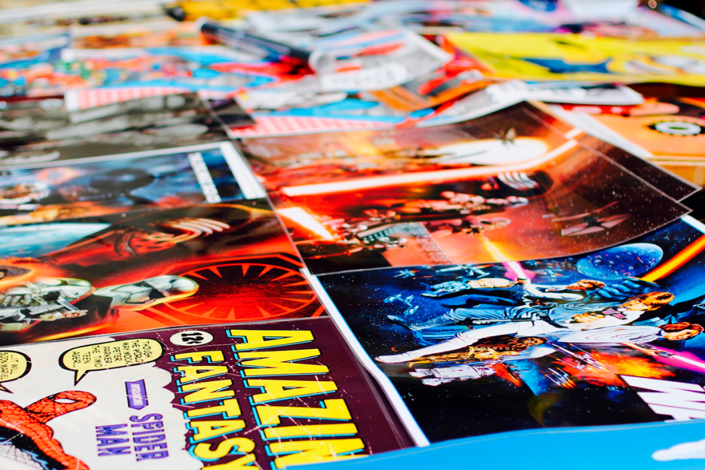 comics table