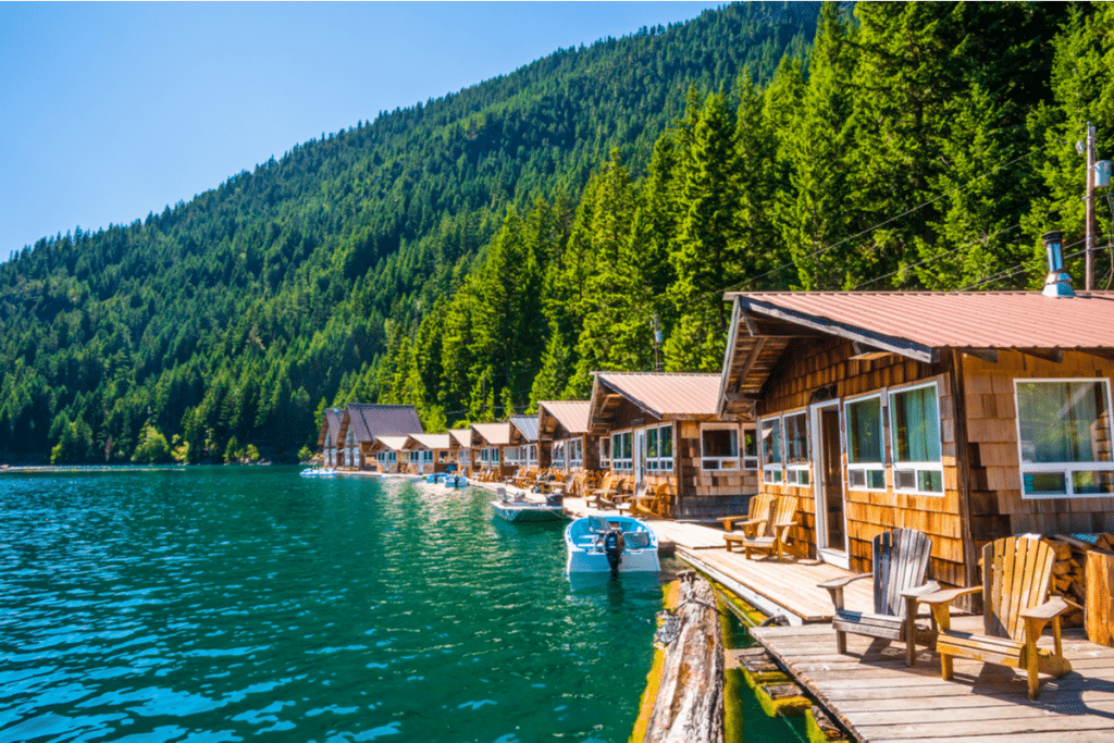 Floating Cabins North Cascades