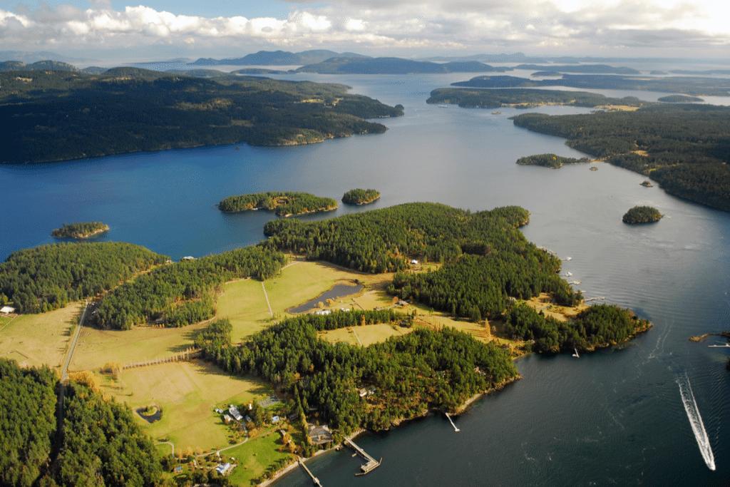 Islands off Seattle
