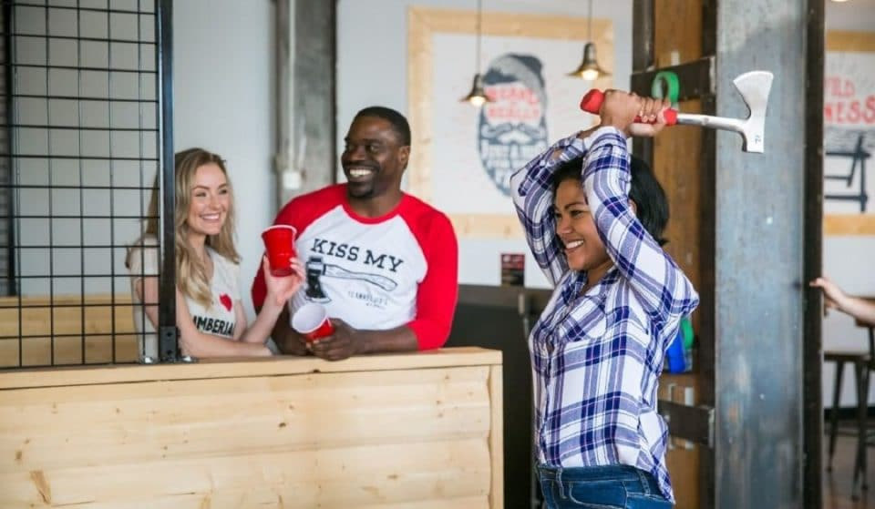 Enjoy An Exhilarating Competition At This New Axe Throwing Spot In Pioneer Square