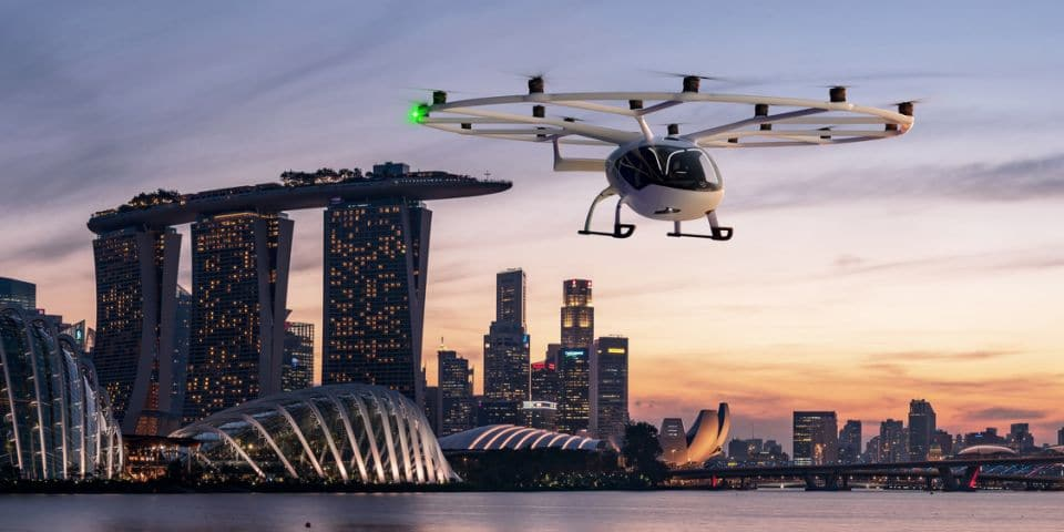World's First Electric Air Taxis Due To Fly In Singapore Skies In 2023