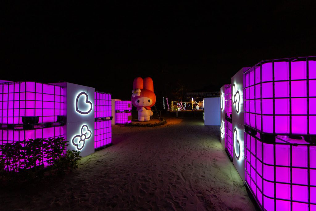 Sentosa Island Is Lit Up With Sanrio Characters For Christmas In Singapore