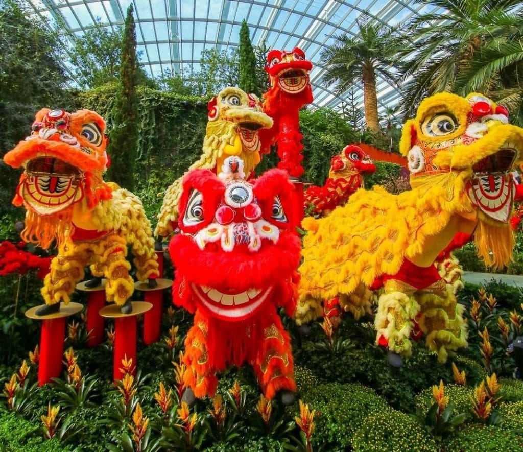 View A Stunning Floral Display At Gardens By The Bay To Celebrate Chinese New Year In Singapore