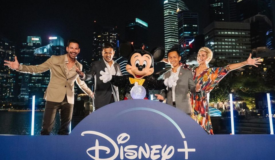 Disney+ Launches Arrival In Singapore With A Spectacular Lights Display And Performers