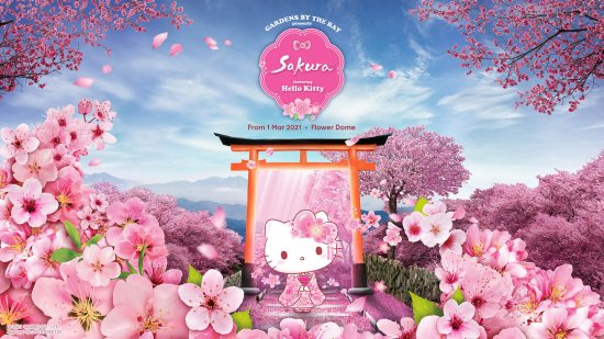 A Sakura Display Featuring Hello Kitty Is Coming To Gardens By The Bay In March