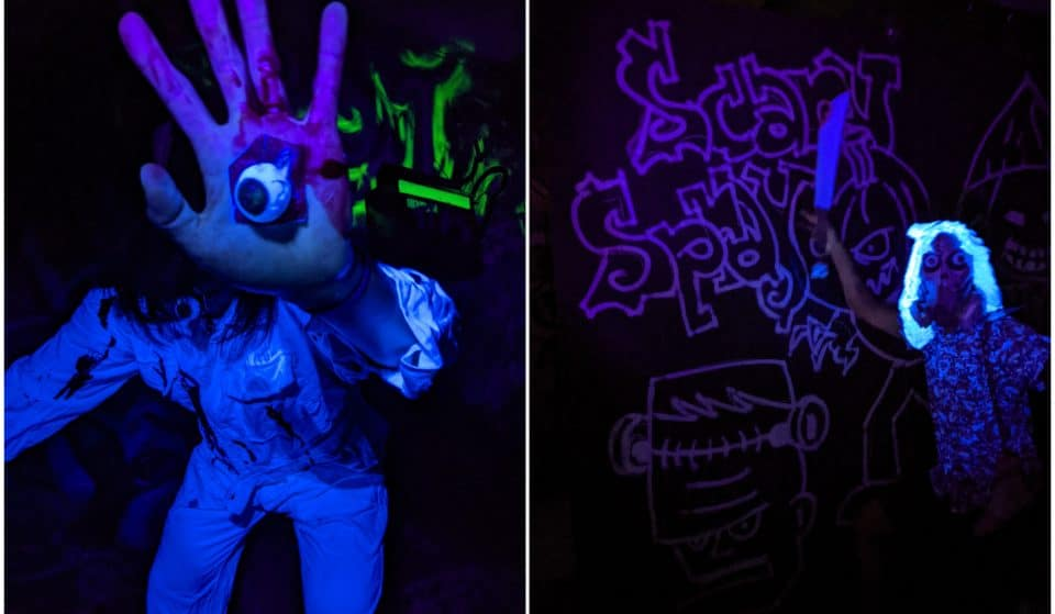 Spray The Ghosts Away Or Onto Walls At Heaven Spot's Halloween Glow-In-The-Dark Special