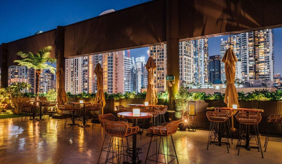 This Lavish New Singapore Rooftop Bar Offers Iconic Sunset Views