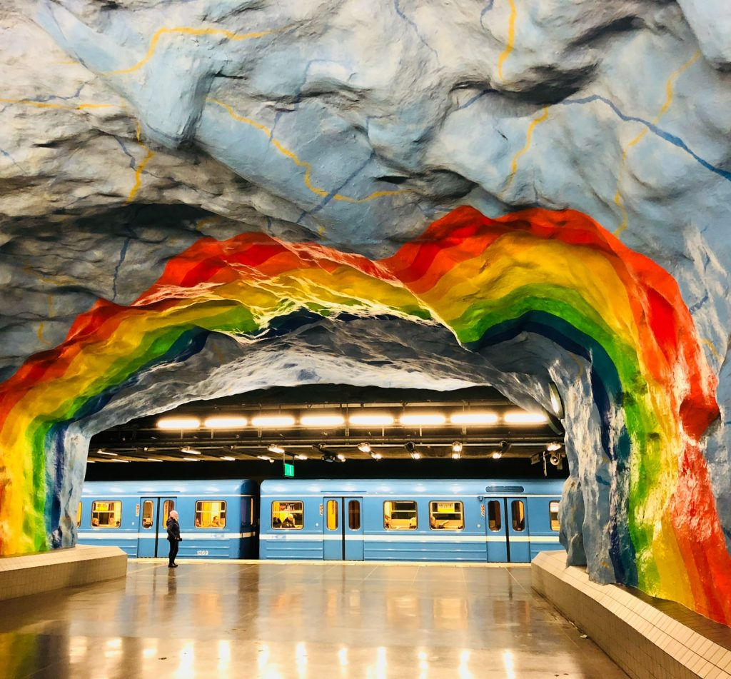Stockholm's Colourful Metro Stations Are Incredibly Beautiful