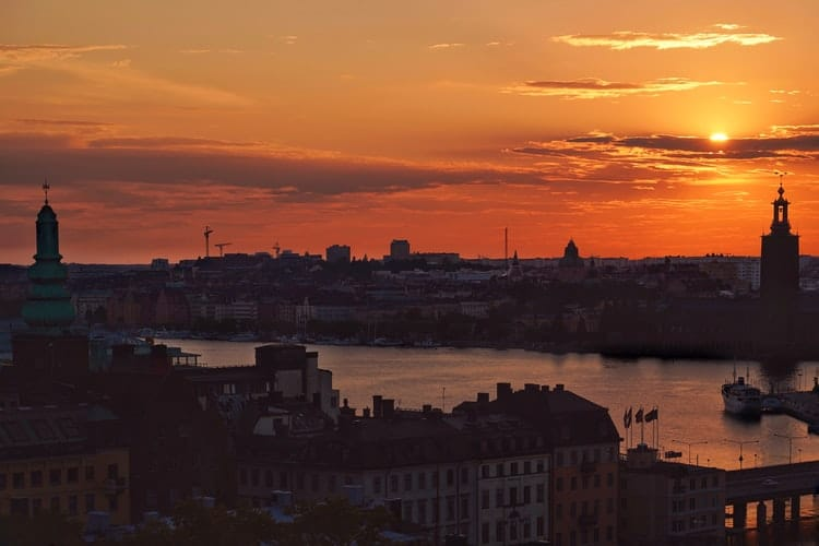 10 Beautiful Photos of Sunset Over Stockholm