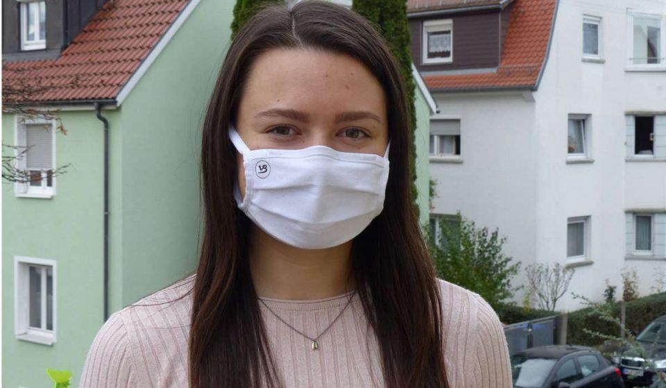 Die 19-jährige schwäbische Erfinderin der Maske für Glasträger ist jetzt eine Vollblutunternehmerin