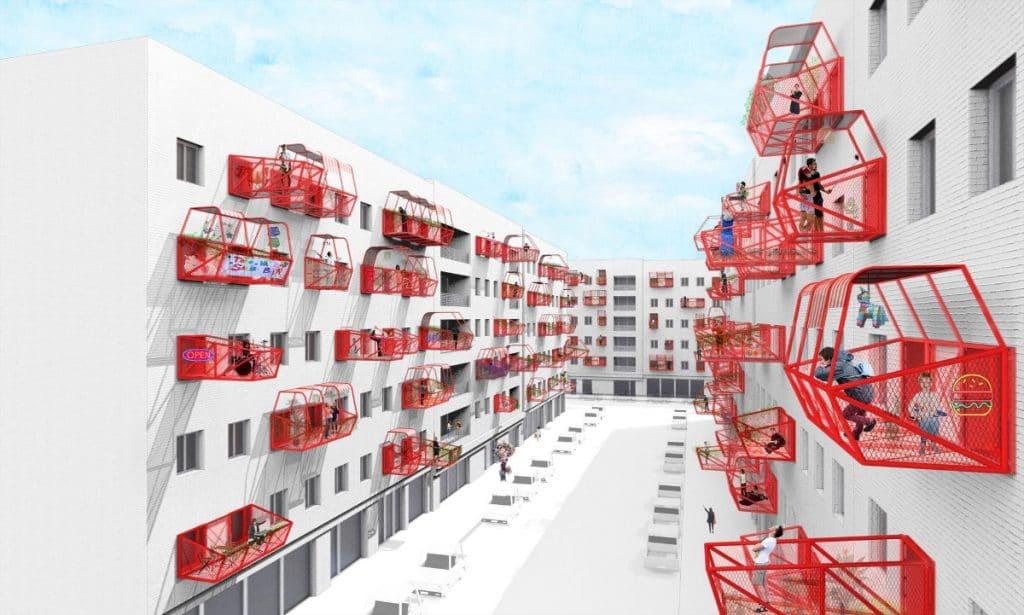 Vorgefertigte Terrassen: Revolution des Urbanismus nach dem Covid?