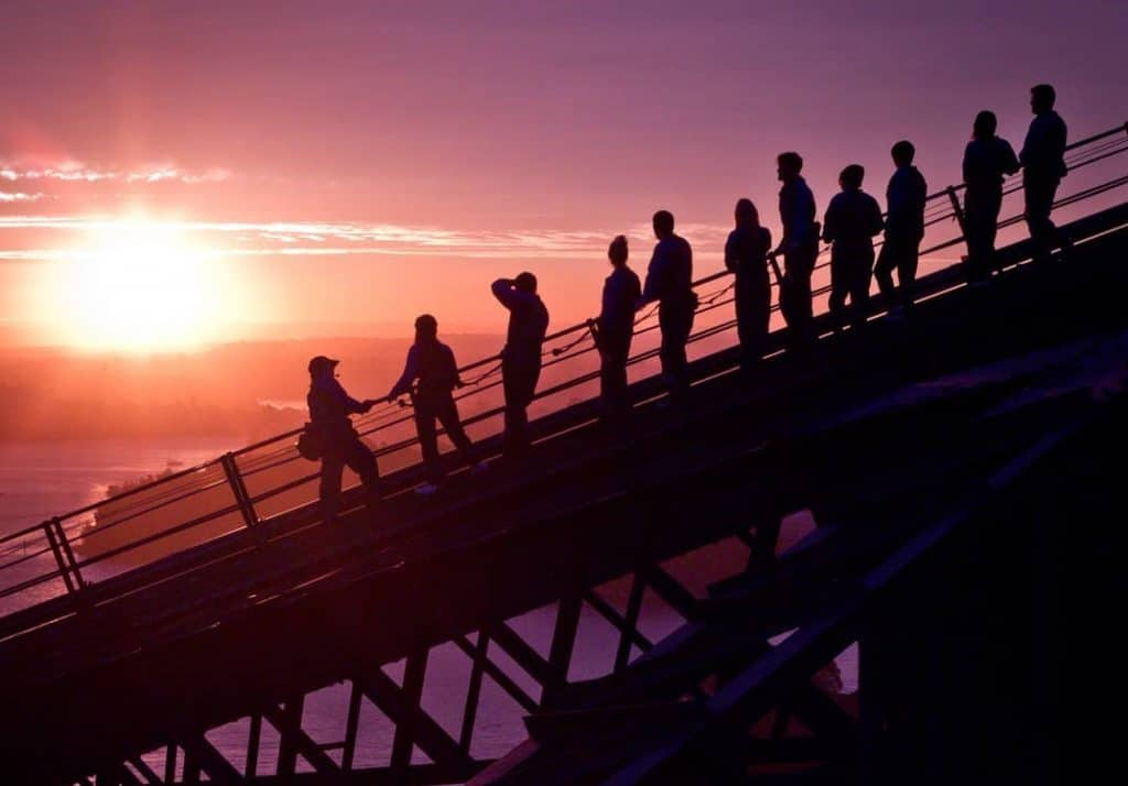 The City's Best Vantage Point During Vivid Sydney • The Vivid Climb